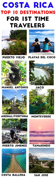 Visiting Costa Rica for the first time? Here are the 10 best destinations for first time travelers. All are easy access from the airport, have plenty of fun activities and have all the services and … Honduras, Belize, Costa Rica Travel, Amazing Destinations, Travel Destinations, Holiday Destinations, Cool Places To Visit, Places To Travel, Travel Tips