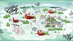 Image result for map of santa's village north pole