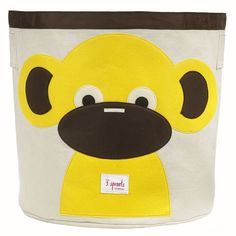 3 Sprouts Monkey canvas storage bin is the perfect space-efficient storage solution for children. The playful canvas storage bins have room for everything. Nursery Storage Baskets, Kids Storage Bins, Toy Bins, Easy Storage, Creative Storage, Plastic Storage, Storage Organization, Project Nursery, Nursery Decor