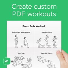 Create custom printable PDF workouts with exercise illustrations, FREE