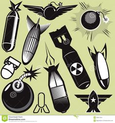 Illustration about A clip art collection of various bomb icons and art. Illustration of design, bomb, star - 30557424 Tatoo Art, Tattoo Drawings, Tattoos, Tattoo Vieja Escuela, Dessin Old School, Tattoo Filler, Graffiti Lettering, Flash Art, Nose Art
