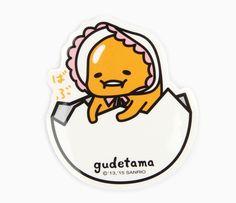 Gudetama Sticker: Burp