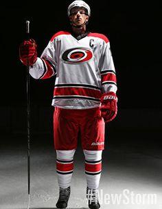 Carolina Hurricanes Away Uniform - - Carolina Hurricanes - New Storm Ice Hockey Teams, Hockey Players, Jim Rutherford, Hurricanes Hockey, Columbus Blue Jackets, Carolina Hurricanes, Los Angeles Kings, Pittsburgh Penguins, Chicago Blackhawks