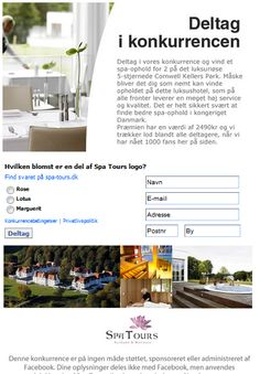 Campaign using Newsperience Facebook Poll App / Quiz konkurrence  newsperience.dk   Spa Tours - luksus spa ophold