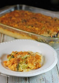This hot and hearty Cheesy Chicken, Broccoli and Rice Casserole with homemade cheese sauce will satisfy your comfort food cravings for just 327 calories or 8 Weight Watchers points!