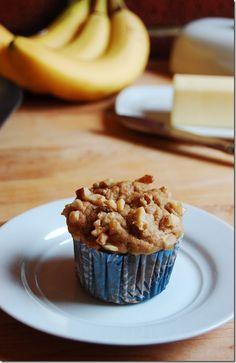 Whole Wheat Banana Walnut Muffins