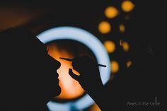 bridal prep silhouette