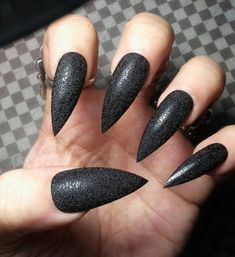Gothic Black TEXTURED Stiletto Nails, Halloween Costume Cosplay Nails, Witchy Sexy Acrylic Press on Glue on Nails, Goth False Fake Nails Black Gold Nails, Black Nail Polish, Black Gold Jewelry, Create Your Own Character, Nail Bed, Stiletto Nails, Sexy Nails, Glue On Nails, Have A Great Day