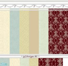 jsf Designs RS #Georgian #Regency #Victorian #swag #damask #wallpaper #carpet #TS2 #thesims2 #customcontent #cc
