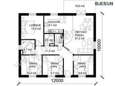Moderní dům postavený podle originálního architektonického plánu projektu Bungalov C3