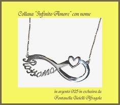 collana Infinito amore con nome