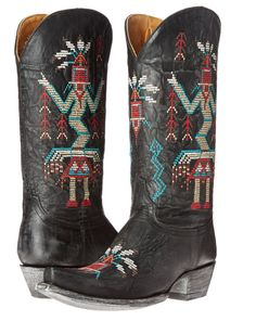 Old Gringo Sapache boots in black. http://amzn.to/1Xy2Uuc