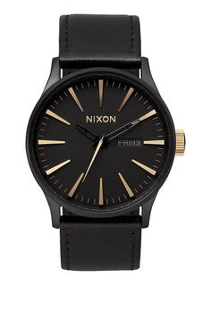Sentry Leather - All Black Woven | Nixon Neo Preen