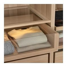 IKEA - KOMPLEMENT, Drawer with glass front, 75x58 cm, , 10-year Limited Warranty. Read about the terms in the Limited Warranty brochure.The drawer with glass front gives you a quick view of the contents, and adds a light and airy impression to your wardrobe.Closes slowly, silently and softly thanks to an integrated damper.