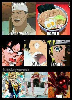 last bow of ramen. FFFUUUU #naruto #dbz #onepiece I should really check out one piece. - Visit now for 3D Dragon Ball Z shirts now on sale!