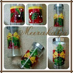 Cookie Jar for Christmas .by meerakatja glass art painting 2015