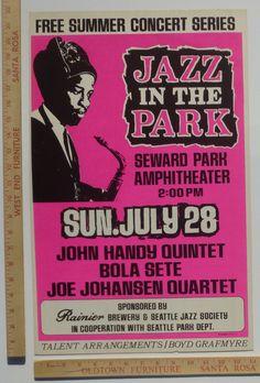John Handy Bola Sete Jazz Concert Poster Seattle Washington 1968 | eBay