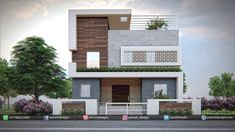 For my home Residential Elevation – Panash Design Studio How To Choose A Set Of Sheets For Your Bed 2 Storey House Design, Bungalow House Design, House Front Design, House Design Photos, Small House Design, Architecture Building Design, Home Building Design, Facade Design, Classic House Exterior