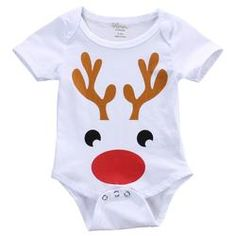 Babys Christmas Bodysuit Newborns Shorts Sleeve Cotton Romper Outfits Xmas Gift 03 Months Reindeer -- You can find out more details at the link of the image. (This is an affiliate link) Boys Christmas Outfits, Christmas Baby, Christmas Clothes, Xmas, White Christmas, Jumpsuits For Girls, Girls Rompers, Reindeer Onesie, Baby Jumpsuit