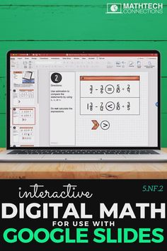 Use Google Slides for math lessons online during distance learning. These interactive math slides can be assign using Google Classroom or Microsoft Teams.  #googleclassroom #googleslides #googledrive #edtech #flippedclassroom #digitalmath #paperlessmath #distancelearning #blendedlearning #microsoftteams #5thgrade #Math #5thgrademath Fun Math, Math Games, Math Activities, Flipped Classroom, Math Classroom, Adding And Subtracting Fractions, Teaching Fractions, Fifth Grade Math, Blended Learning