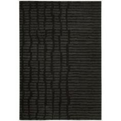 Calvin Klein Home  Hand-tufted Luster Wash Black Rug (56 x 8)