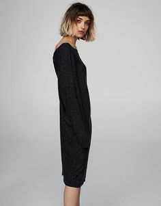 Dress with back knot - Dresses - Clothing - Woman - PULL&BEAR Greece