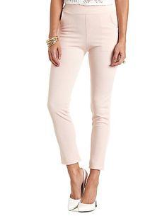 Textured Jacquard Knit Skinny Pants #charlotterusse #charlottelook