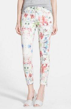 DL1961 'Florence Instasculpt' Crop Jeans (Carnival) available at #Nordstrom