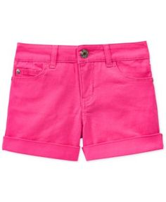 Celebrity Pink Girls' Cuffed Colored Shorts