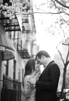 New York City Engagement - photo by Justin & Mary