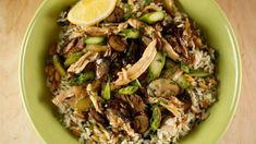 Leftover poached, pulled chicken or pulled rotisserie chicken makes quick work of this weekday-friendly rollover meal.