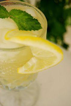 McGonagall cocktail - vodka, earl grey, dash syrup, lemon juice, mint leaves