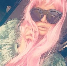 Pink hair, don't care - The gorgeous Beatrix Kiddo wearing LeSpecs sunnies. Pink Hair, Don't Care, Sunnies, Fans, Photo And Video, Stylish, Model, How To Wear, Instagram