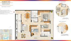 Planta Apartamento 3 qtos