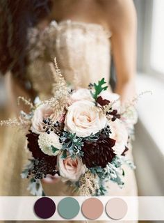 plum and sage fall nude wedding colors for october brides ...