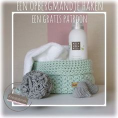 Crochet pattern Basket and Shower Puff - Crochet Diy, Crochet Home, How To Make Diy, Chrochet, Beautiful Crochet, Crochet Clothes, Free Pattern, Diy And Crafts, Crochet Patterns