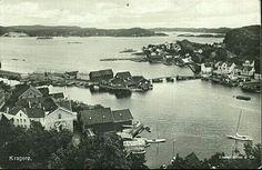Telemark fylke Kragerø utsikt over byen og fjorden Utg Mittet tidlig 1900-tall