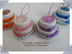 creazioni melocotón: Le Wedding Cakes segnaposto DI TAPPI