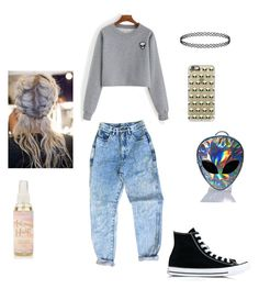 """i dont believe in humans 👽✌"" by nirvana66 ❤ liked on Polyvore featuring Converse, Disturbia and Casetify"