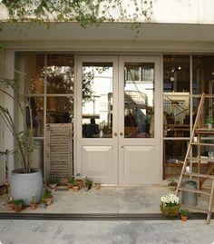 HUG O WaR Door Design, House Design, Takachiho, Windows And Doors, Coffee Shop, Facade, Entrance, Garage Doors, Shed