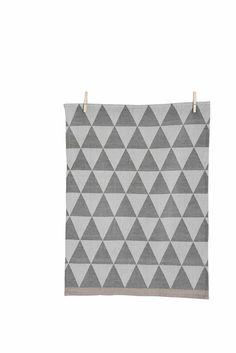 Ferm Living Mountain Tea Towel - Grey