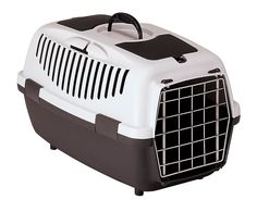 Pet Cat Dog Carriers Transport Travel Home Cage Box Metal Door Safety Belts Grey Cat Cages, Cat Dog, Dog Carrier, Cat Supplies, Pets, Crates, Your Pet, Transportation, Dog Accessories