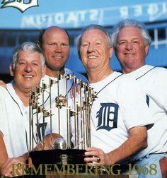 Mickey Lolich, Bill Freehan,Al Kaline, Jim Northrup, DET - 50 years Flint Michigan, State Of Michigan, Detroit Michigan, Michigan Accent, Detroit Sports, Detroit Tigers Baseball, Detroit History, Mlb Players, Michigan Travel