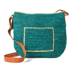 Check out this item at One Kings Lane! Crocheted Cross Body, Aqua