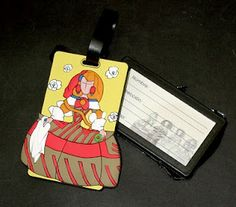 Identificador de maletas o mochilas con Menina moderna. 4 modelos surtidos