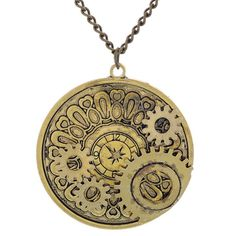 GIONO Bronze Tone Clock Steampunk Necklace Pendant Gears Distinctive Stylish >>> Quickly view this special product, click the image : Valentine Gifts