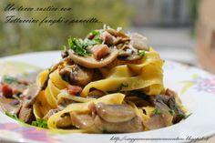 tagliatelle funghi e pancetta