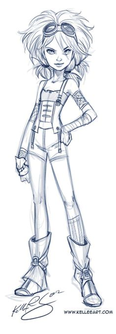 Never tried drawing a younger version of this character before. But as you might be seeing her in flashbacks, figured I might as well get to designing her! Phaedra is © Kellee Riley and KelleeArt D...