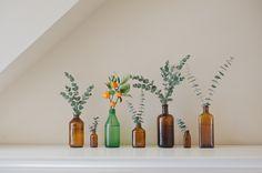 bottles and eucalyptus