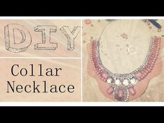 How to make a COLLAR NECKLACE